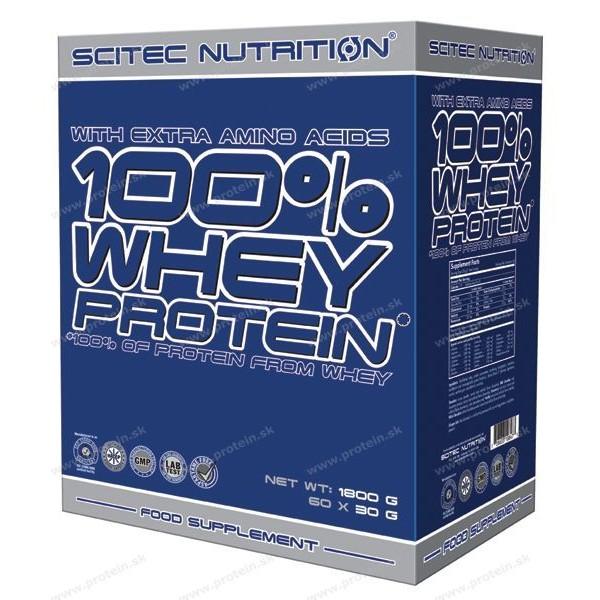 100% Whey Protein nasáčkovaný - Scitec Nutrition - Mix / 60 x 30 g