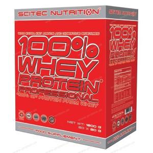 100% Whey Protein Professional nasáčkovaný - Scitec Nutrition - Mix / 60 x 30 g