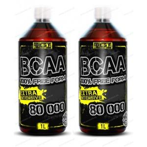 1+1 Zadarmo: BCAA 100% Free Form 80 000 od Best N. - 1000 ml + 1000 ml / Pink grep