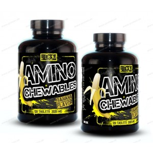 1+1 Zadarmo: Amino Chewables od Best Nutrition - Banán / 120 tbl. + 120 tbl.