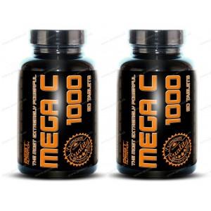 1+1 Zadarmo: Mega C 1000 od Best Nutrition - 90 tbl. + 90 tbl.