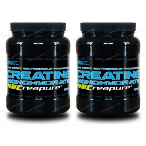 1+1 Zadarmo: Creatine Monohydrate Creapure od Best Nutrition - 300 g + 300 g
