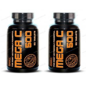 1+1 Zadarmo: Mega C 500 + šípky od Best Nutrition - 90 tbl. + 90 tbl.