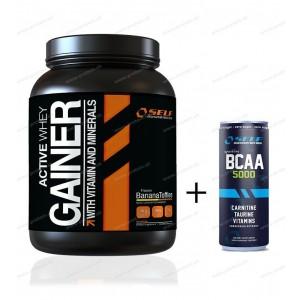 Active Whey Gainer + BCAA od Self OmniNutrition - 2000 g / Arašidové maslo-Čokoláda