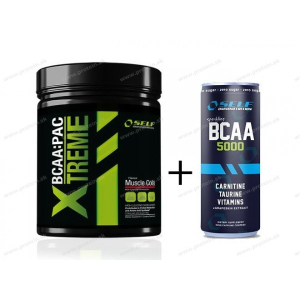 BCAA:Pac Xtreme + BCAA od Self OmniNutrition - 500 g / Tropické ovocie